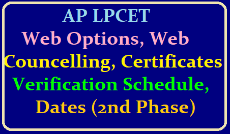 AP LPCET 2019 Web Options, Web Councelling, Certificates Verification Schedule / Dates (2nd Phase) /2019/06/ap-lpcet-2019-web-options-web-councelling-certificates-verification-schedule-dates-official-website-aplpcet.apcfss.in.html