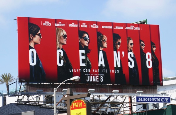 Oceans 8 movie billboard