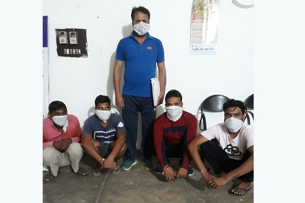 crime-branch-arrested-4-gambling-accused-news-in-hindi