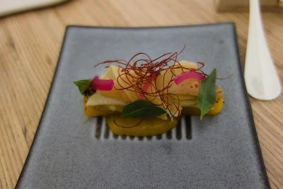 Mangue grillée, tapioca restaurant Mosuke Paris 14 ème, blog Délices à Paris.
