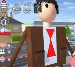 ID Pantung Mr. Bean Di Sakura School Simulator