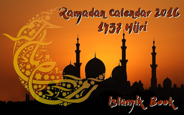 Ramadan Calendar 2016 Pakistan - Ramadan Timing 1437 Hijri