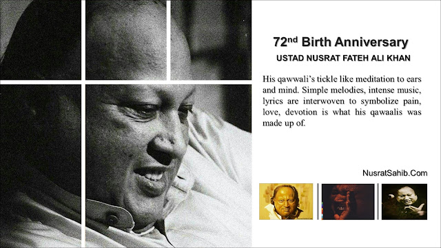 Celebrating 72th birth anniversary of Nusrat Fateh Ali Khan | NusratSahib.Com