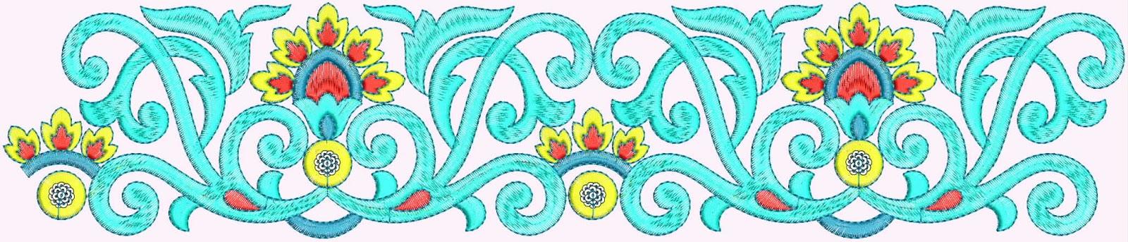 Embdesigntube: Latest Saree Designs - Saree Borders Designs