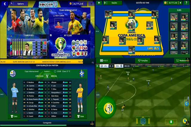 DLS 19 V6.12 Mod Copa America Update 2019