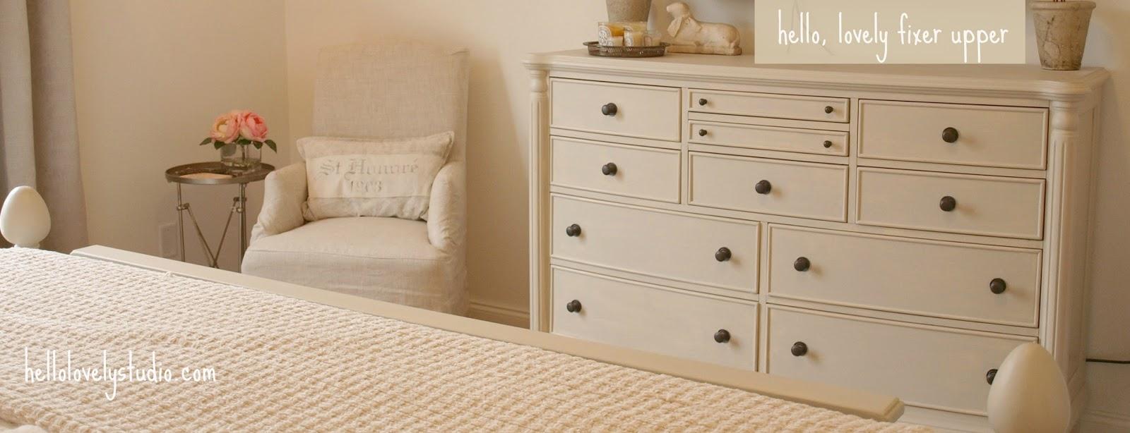 Cottage style bedroom in fixer upper - Hello Lovely Studio