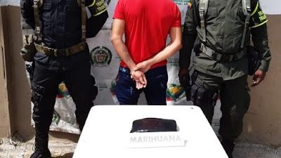 Sorprenden a un sujeto con 540 gramos de marihuana