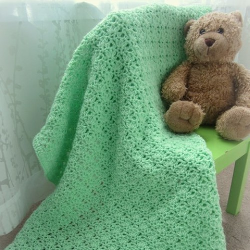 Crochet Green Baby Blanket - Free Pattern
