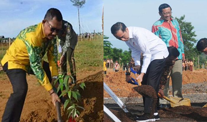 Peringati HPN, Presiden RI Tanam Pohon Didampingi Ketua PWI Lampung
