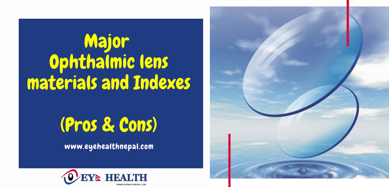 Major Ophthalmic lens materials and Indexes