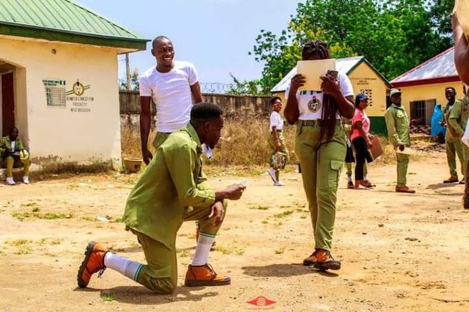 Corp member proposes to a colleague during POP in Taraba (Photos)