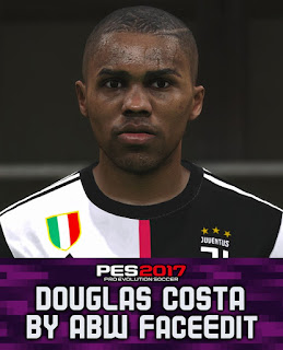 PES 2017 Faces Douglas Costa by ABW_FaceEdit