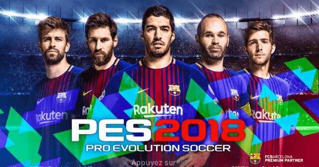 تحميل لعبة برو إفولوشن سوكر PES 2018 اخر إصدار