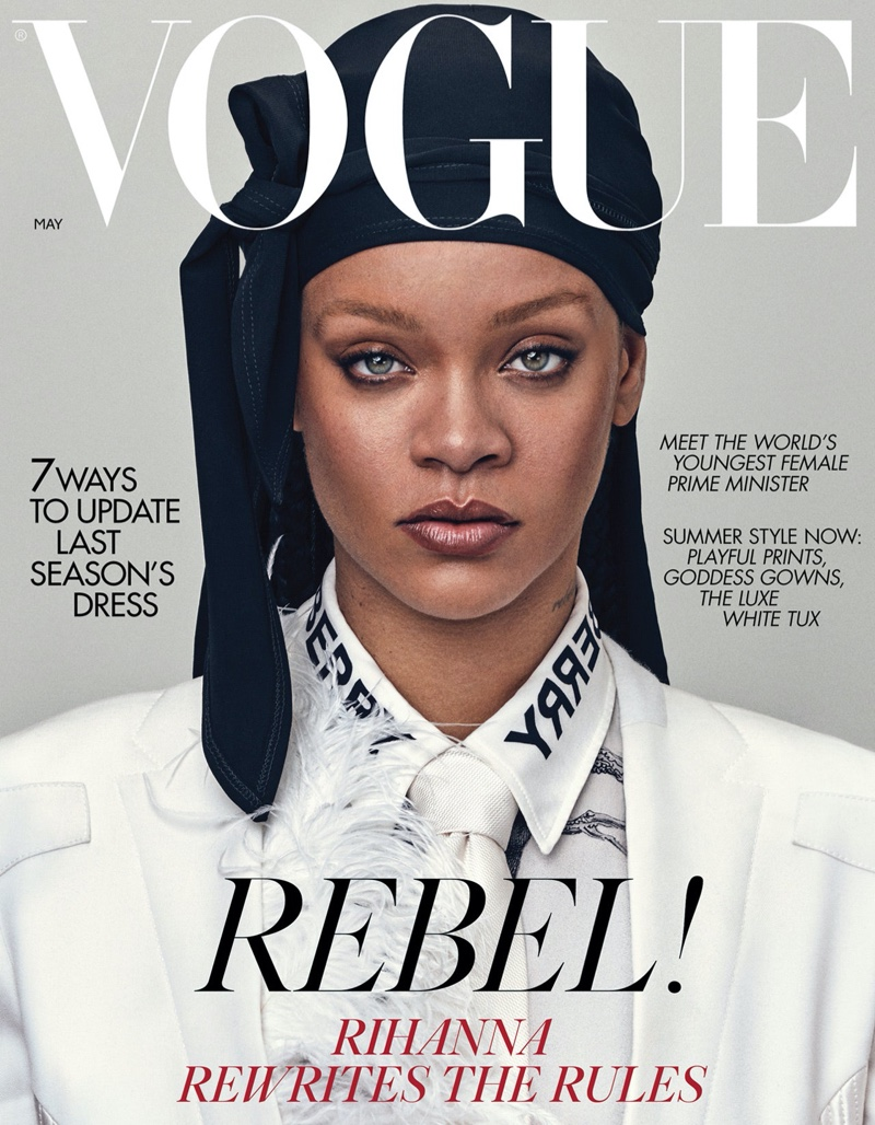 Singer Rihanna on Vogue UK May 2020 Cover