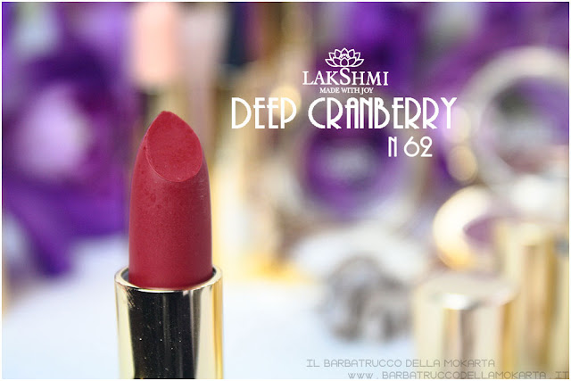 deep cranberry review  lakshmi makeup vegan ecobio