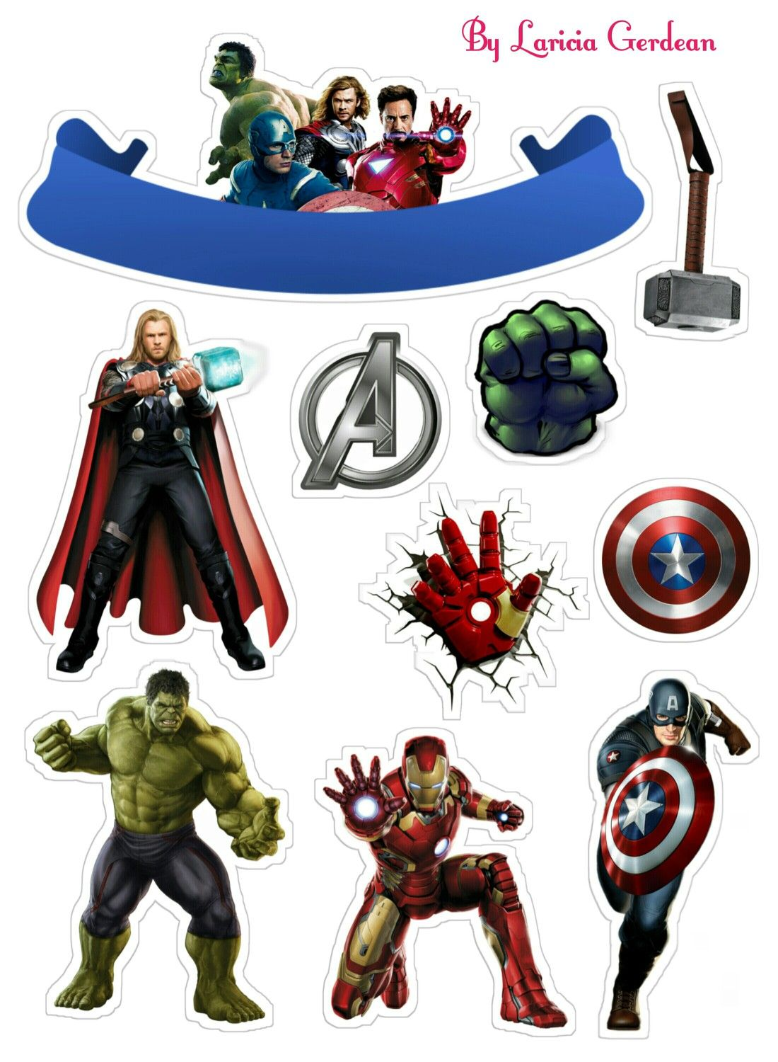 avengers party free printable cake