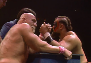 NWA Starrcade 1985 - Superstar Billy Graham faced Barbarian in an arm-wrestling match