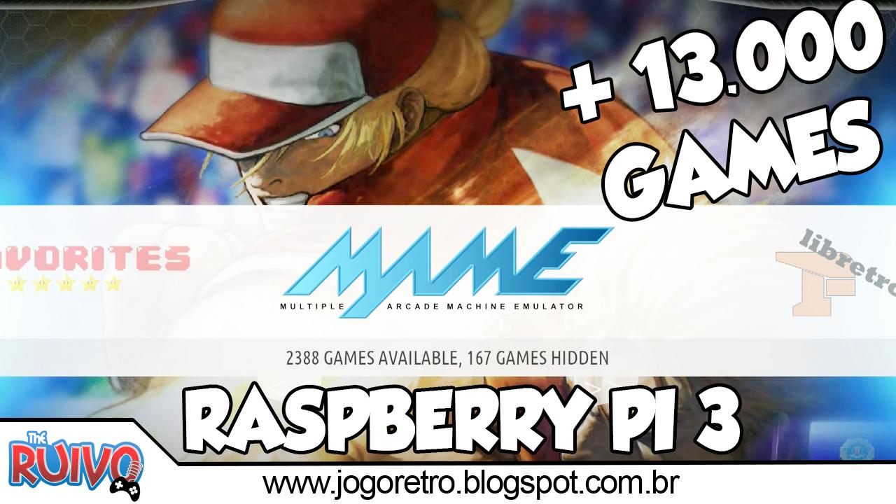 Raspberry Pi 3 - Recalbox Retro Gaming (32GB) com 13 122
