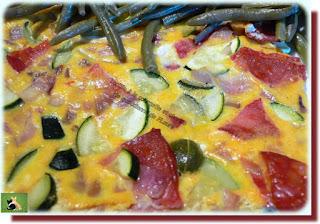 Vie quotidienne de FLaure : Tortilla à la courgette et chorizo