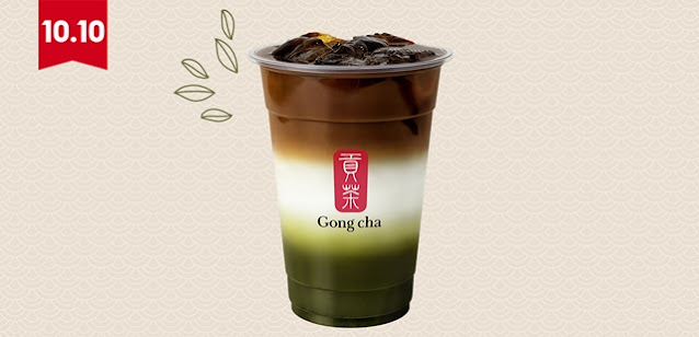 Gong Cha, Shopee,  10.10 Festival Drinks. 10.10 Brands Festival, Matcha Lovers, Matcha Latte, Matcha Coffee Latte, Matcha Marble, Bubble Tea, Food