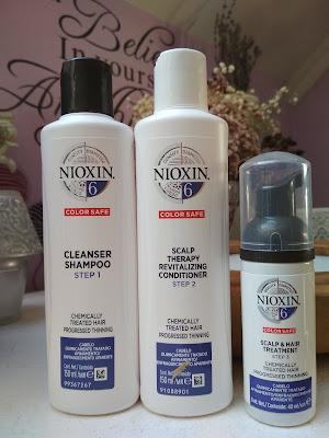 Nioxin System 6 Color Safe Chemically Treated Hair darčeková sada pre rednúce vlasy