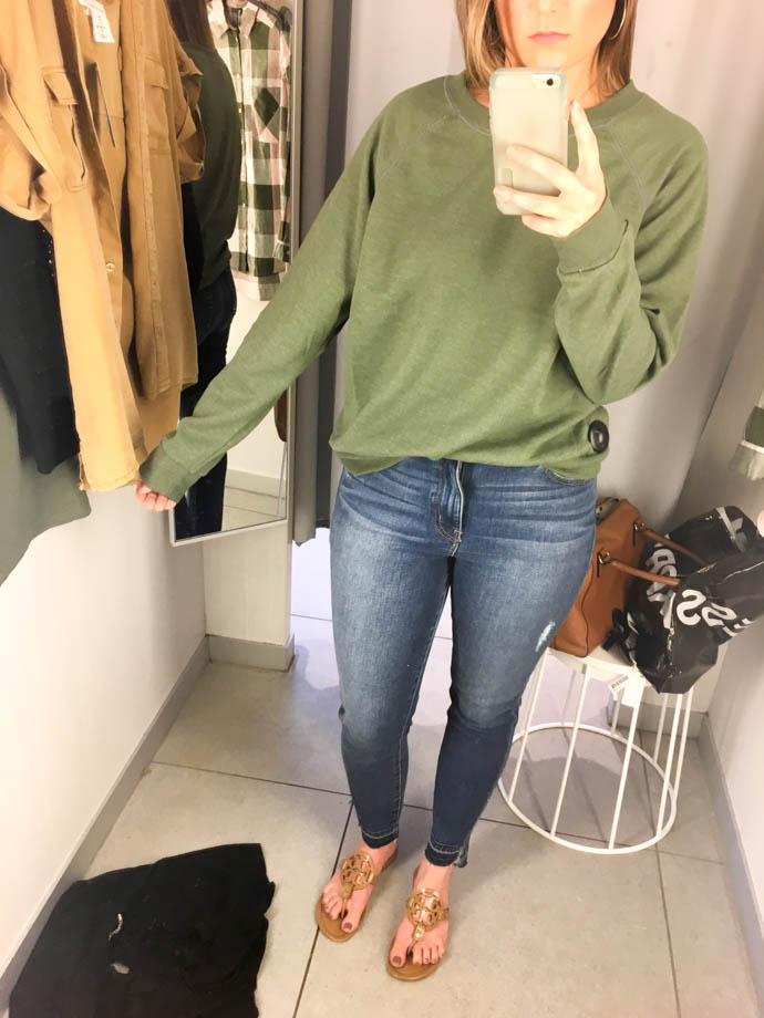 h&m green sweatshirt, fall outfit 2017, amanda sumner, the girlish blog, girl(ish), sc fashion blogger