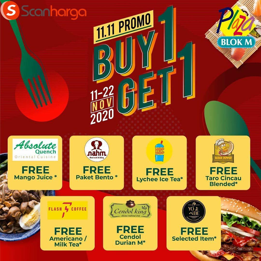 Promo Plaza Blok M 11.11 - Buy 1 Get 1 Free