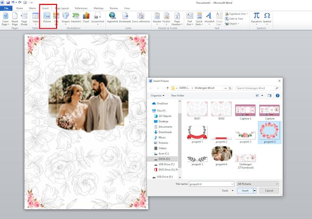 Download Template Desain Undangan Pernikahan Dengan Word
