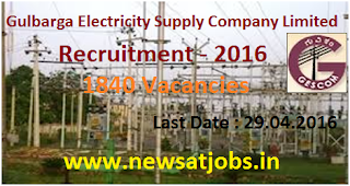 gulbraga+electricity+supply+comp+ltd+recruitment+2016
