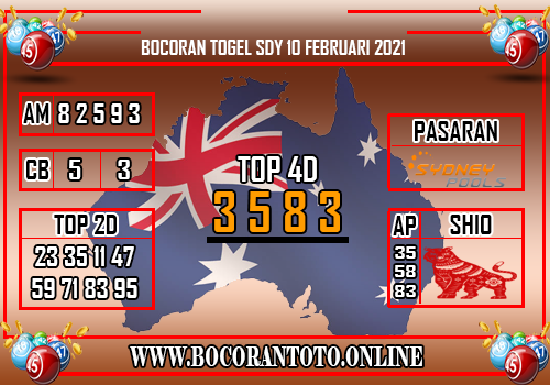 Bocoran Sydney 10 Februari 2021