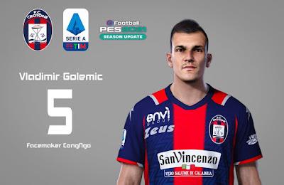 PES 2021 Faces Vladimir Golemić by CongNgo