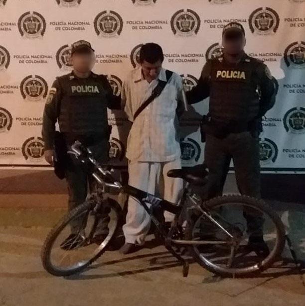 Venezolano se robó una bicicleta en el barrio El Carmen de Maicao