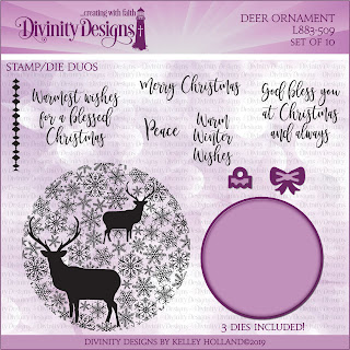Stamp/Die Duos: Deer Ornament