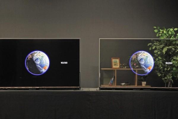 بالفيديو: Panasonic تطلق أول شاشة OLED شفافة