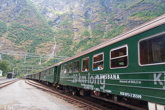 Flamsbana o tren de Flam. El tren de Flam y la excursion Norway in a nutshell