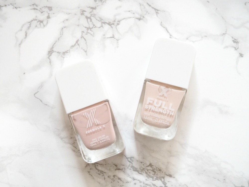 Formula X nail polish in Doll face and Less is more 2
