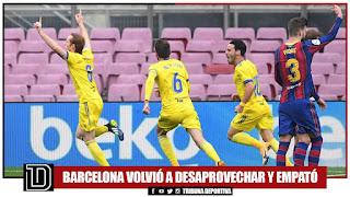 Barcelona empató 1-1