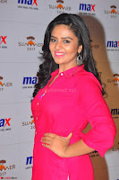 Sree Mukhi in Pink Kurti looks beautiful at Meet and Greet Session at Max Store (43).JPG