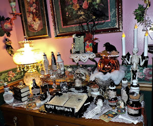 Witch's Potion Table in my Spooky Dining Room