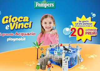 Logo Pampers: vinci 124 GrandiAcquari Playmobil + nuova Raccolta Punti