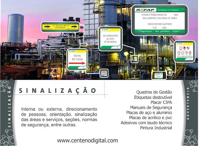 1e71e57702175 Placas de Segurança do Trabalho, Sinalização, Placas fotoluminescente,  Sinalização Vertical e Horizontal