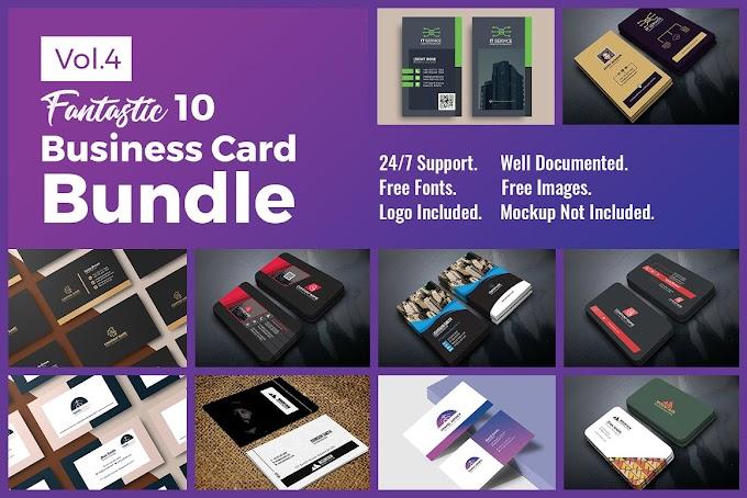 10 Business Card Bundle Vol.4[Photoshop][Mockup][4541355]