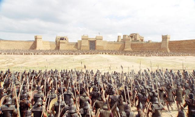 Recreación del sitio de Troya
