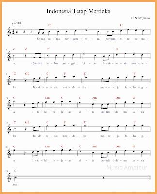 not balok lagu indonesia tetap merdeka