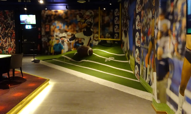 Sports World Mini Golf at O'Leary's bar and entertainment centre at the Mall of Scandinavia in Solna, Stockholm, Sweden