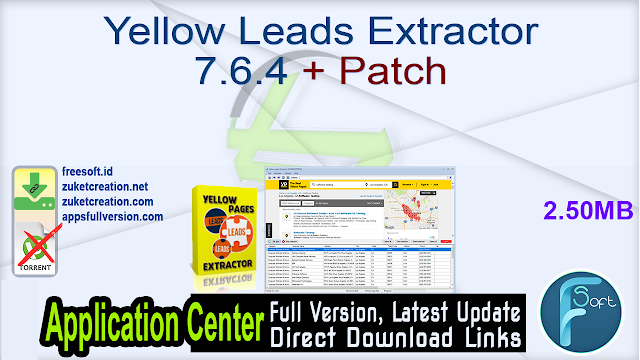 Yellow Leads Extractor 7.6.4 + Patch