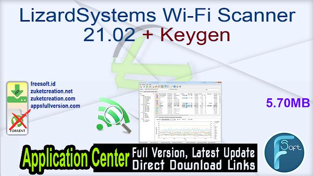 LizardSystems Wi-Fi Scanner 21.02 + Keygen