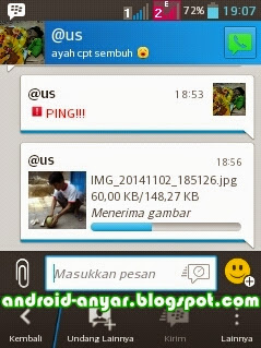 Cara Mengirim Foto Ukuran Asli via BBM Android