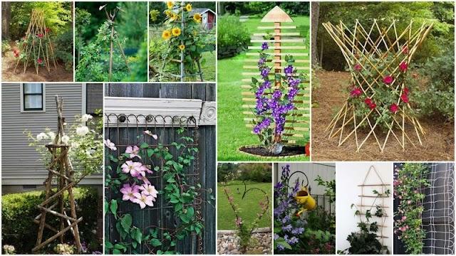 Διακοσμητικές Κατασκευές για Στήριξη Αναρριχώμενων φυτών