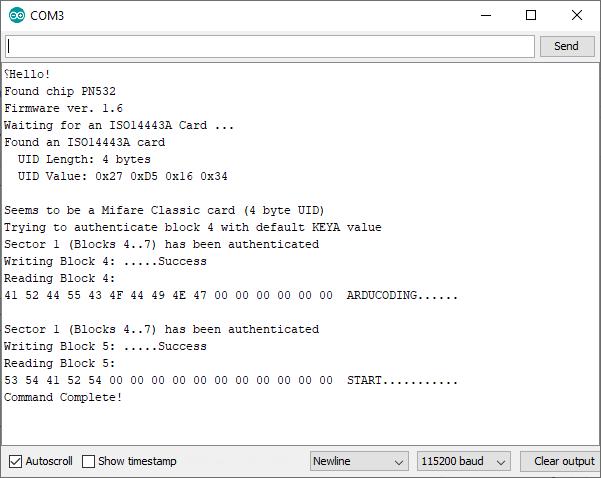 Arduino PN532 Application